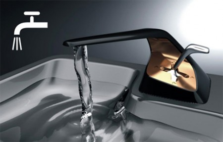 shifter faucet 450x287 [Concept] Il rubinetto per veri automobilisti!