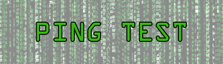 ping test Internet Keys
