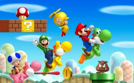 new super mario bros wii 450x281 Recensione di New Super Mario Bros per Nintendo Wii