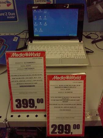 Acer One da MediaWorld