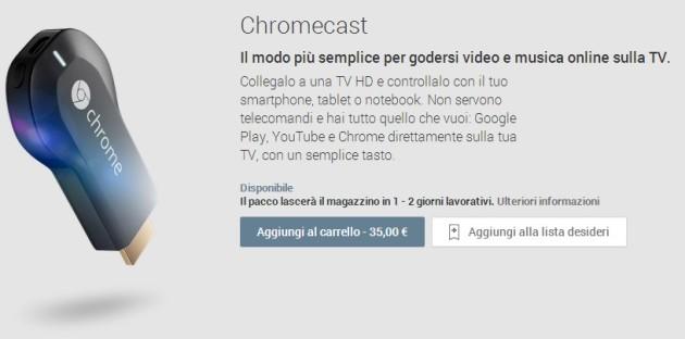 google chromecast italia