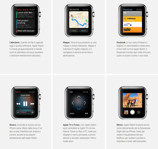 apple watch funzioni