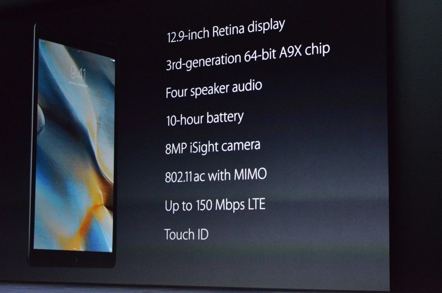 apple-ipad pro specs