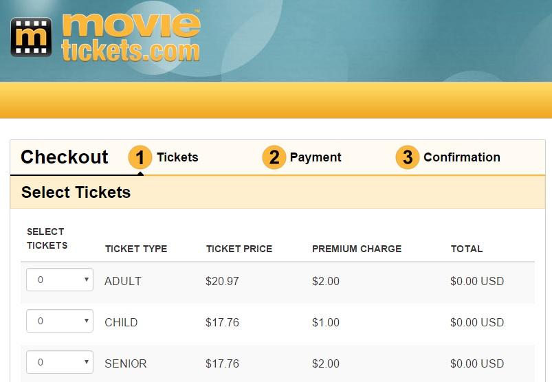 costo biglietto cinema usa